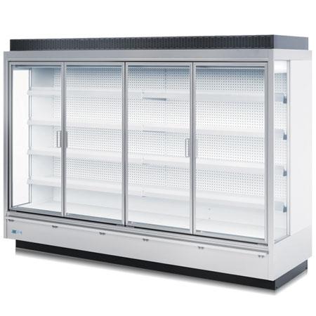 expositor refrigerado vertical com portas