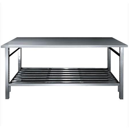 mesa em aço inoxidável